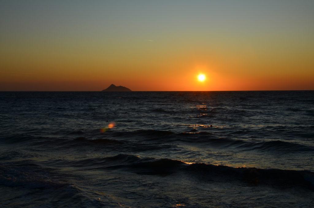 Sonnenuntergang überm Meer auf Kreta